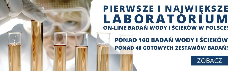 Pierwsze i największe laboratorium ON-LINE badań wody i ścieków w Polsce!